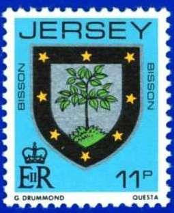 1981-88 Jersey Family Arms Definitive 11p P.14 MNH