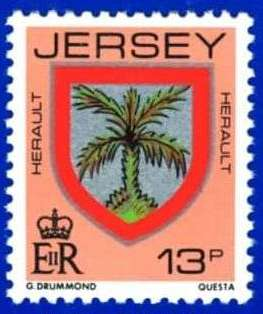 1981-88 Jersey Family Arms Definitive 13p P.14 MNH