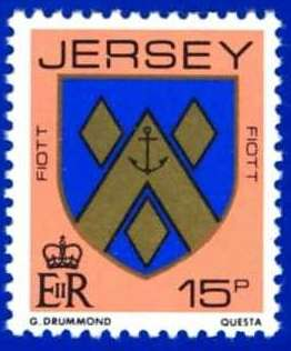 1981-88 Jersey Family Arms Definitive 15p P.14 MNH