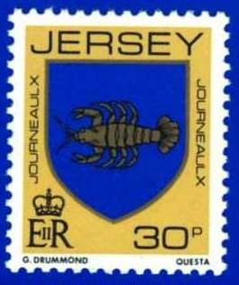 1981-88 Jersey Family Arms Definitive 30p P.15 x 14 MNH