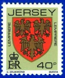 1981-88 Jersey Family Arms Definitive 40p P.14 MNH