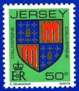 1981-88 Jersey Family Arms Definitive 50p P.14 MNH