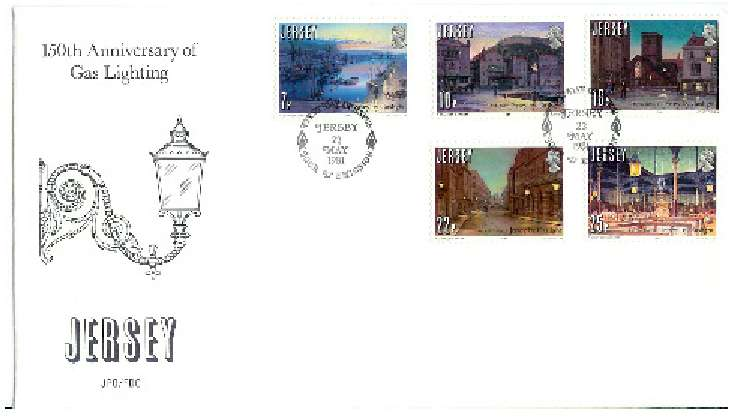 1981 Jersey 150th Anniversary of Gas Lighting FDC