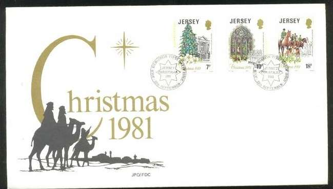 1981 Jersey Christmas:. A Jersey Christmas FDC