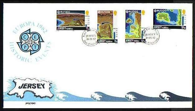 1982 Jersey Europa: Prehistory FDC