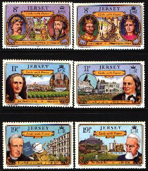 1982 Jersey Links with France Set (6) Right Marginal MNH