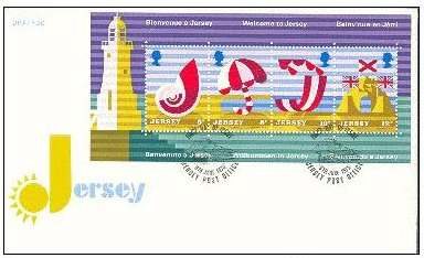 1975 Jersey Tourism M/S FDC