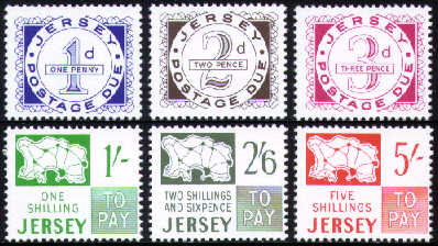 1969 JD1-6 Jersey Words and Figures Pre-Decimal Set (6) MNH