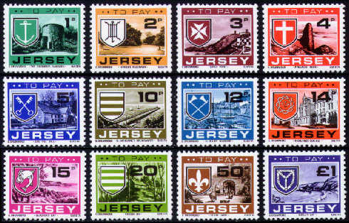 1978 JD21-32 Jersey Arms and Scenes Set (12) MNH