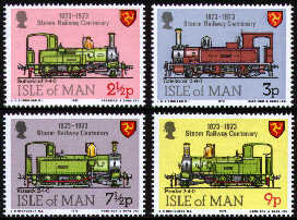 1973 IOM - Steam Railway Centenary Set (4) MNH