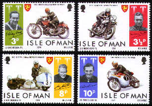 1974 IOM - T.T. Motor Cycle Races - 1st Issue Set (4) MNH