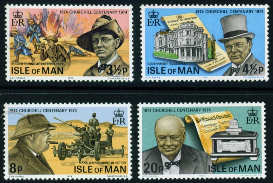 1974 IOM - Birth Centenary of Winston Churchill Set (4) MNH