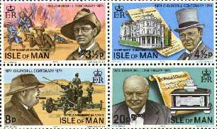 1974 IOM - Birth Centenary of Winston Churchill M/S MNH Stamps