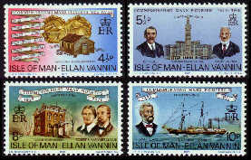 1975 IOM - Manx Pioneers in Cleveland Set (4) MNH