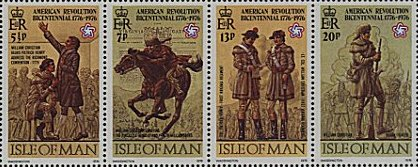 1976 IOM - Bicentenary of American Revolution M/S MNH Stamps