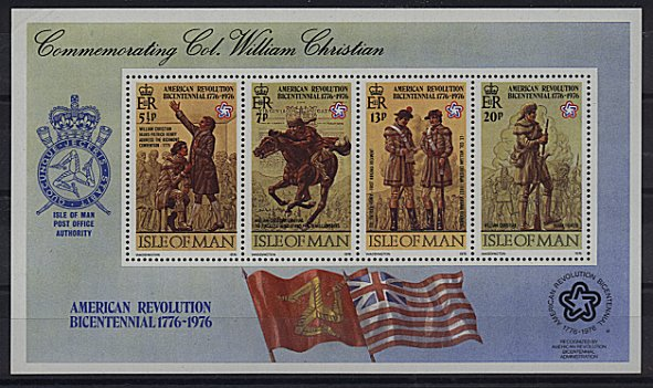 1976 IOM - Bicentenary of American Revolution M/S MNH