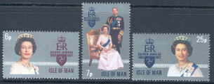 1977 IOM - The Queen's Silver Jubilee Set (3) MNH