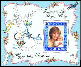1982 IOM - 21st Birthday of the Princess of Wales M/S Used