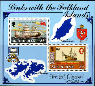 1984 IOM - Karran Fleet & Links with the Falklands M/S Used CTO