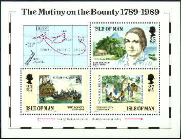 1989 IOM - Bicentenary of the Mutiny on the Bounty M/S MNH