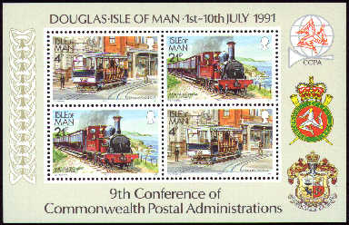 1991 IOM - 9th Conference Commonwealth Postal Admin M/S MNH