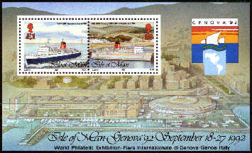 1992 IOM - Genoa International Stamp Exhibition M/S Used CTO