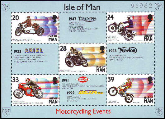 1993 IOM - Manx Motorcycling Events M/S T.T. Used CTO