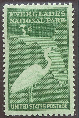 1947 US - Sc952 3¢ Everglades National Park MNH