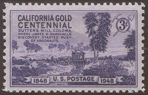 1948 US - Sc954 3¢ California Gold Rush MNH