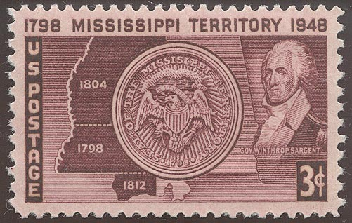 1948 US - Sc955 3¢ Mississippi Territory MM
