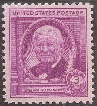 1948 US - Sc960 3¢ William Alan White MNH