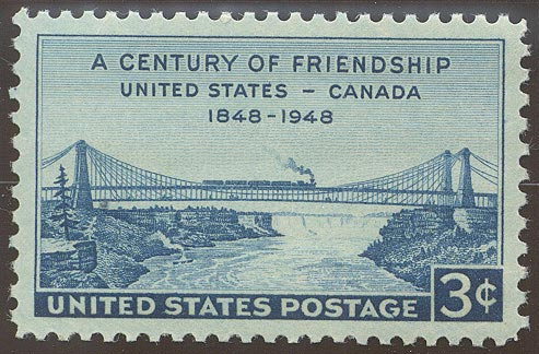 1948 US - Sc961 3¢ Canada Friendship VFU