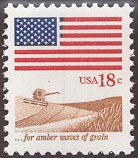 1981 US - Sc1890 18¢ Flag over Field MNH