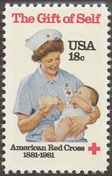 1981 US - Sc1910 18¢ 100th Anniversary American Red Cross MNH