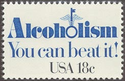 1981 US - Sc1927 18¢ Alcoholism .... You can beat it MNH