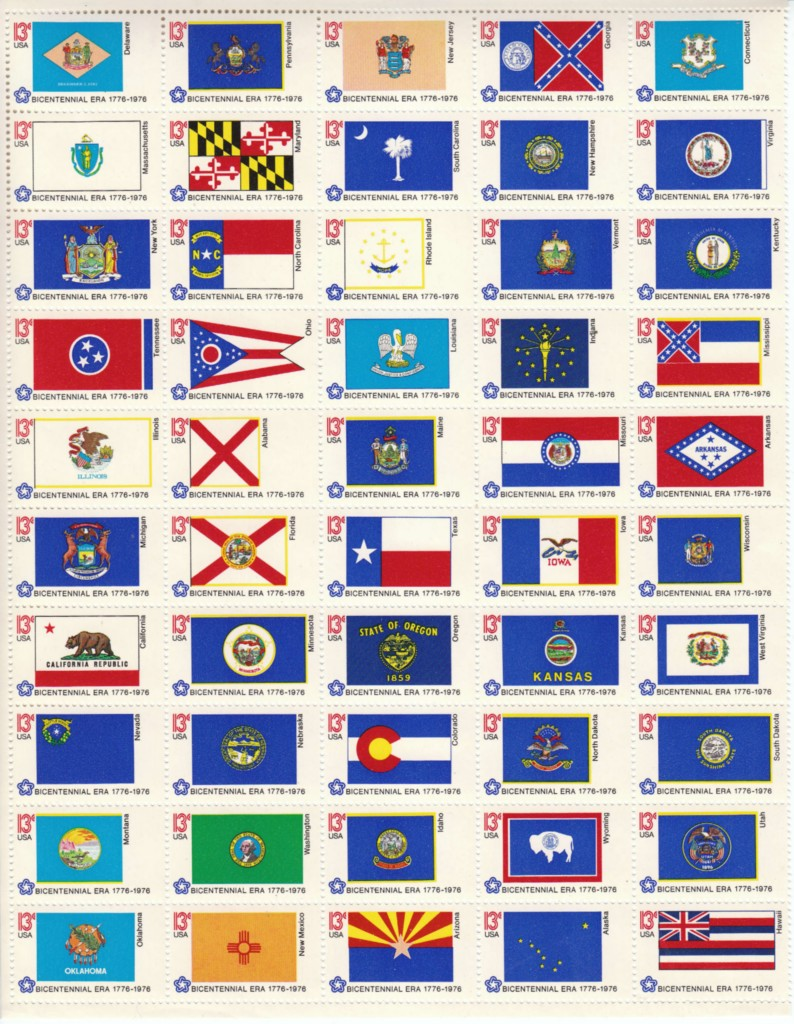 1976 US - Sc1682a State Flags Pane 50 different (no border) MNH