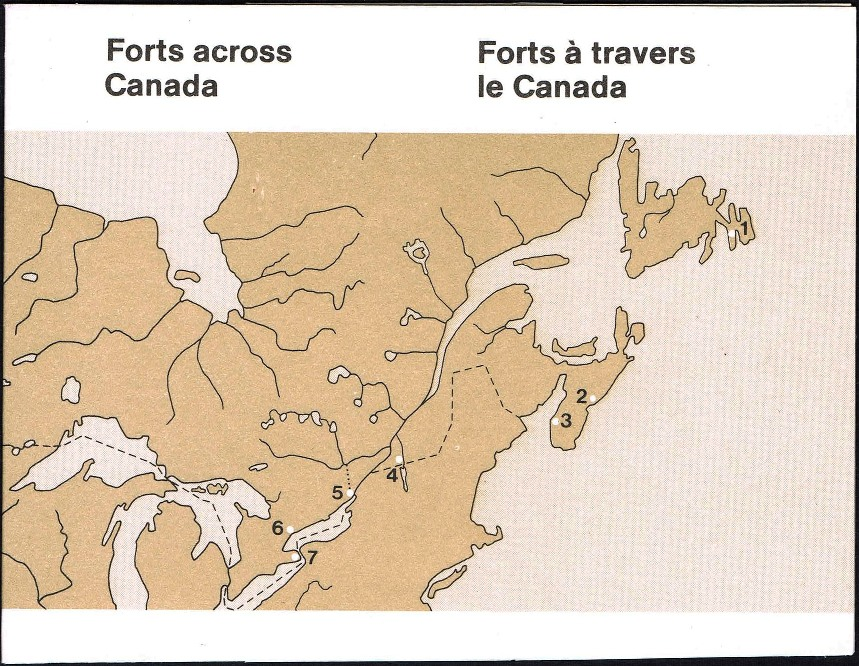 1985 CDN - BK87 (SB96) $3.40 Canadian Forts (2nd Series) Sc1005a