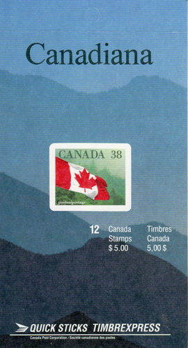 1989 CDN - BK110b (SB116) $5.00 38¢ Flag Definitive (Hill Left)