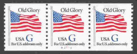 "1994 US - Sc2890 PNC3 Black ""G"" Flag #A2213 Perforated MNH"