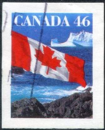 1998 CDN - SG1359i-4 - 46¢ Flag over Iceberg (Imperforate) VFU