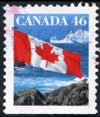 1998 CDN - SG1359i-1 - 46¢ Flag over Iceberg (Btm Imperf) VFU