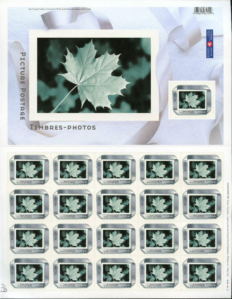 2004 CDN - SG2295 - Picture Postage Silver Ribbon Complete Sheet