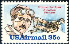 1980 US - ScC100 35¢ Airmail - Glenn Curtiss MNH
