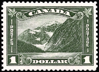 1930 CDN - SG303 $1 Mt Edith Cavell GV Arch Issue MNH