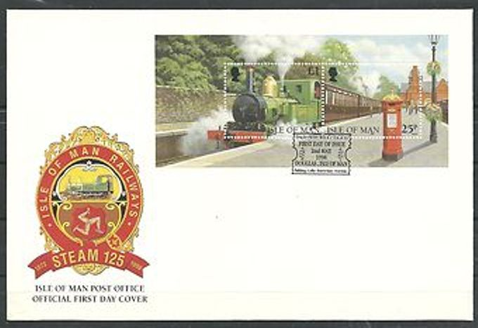1998 IOM - FDC TPO Carried from Port Erin to Douglas Unaddressed