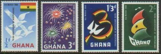 1960 GHA - Independence Anniversary Set (4) MNH