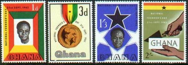 1962 GHA - Founders Day Set (4) MNH