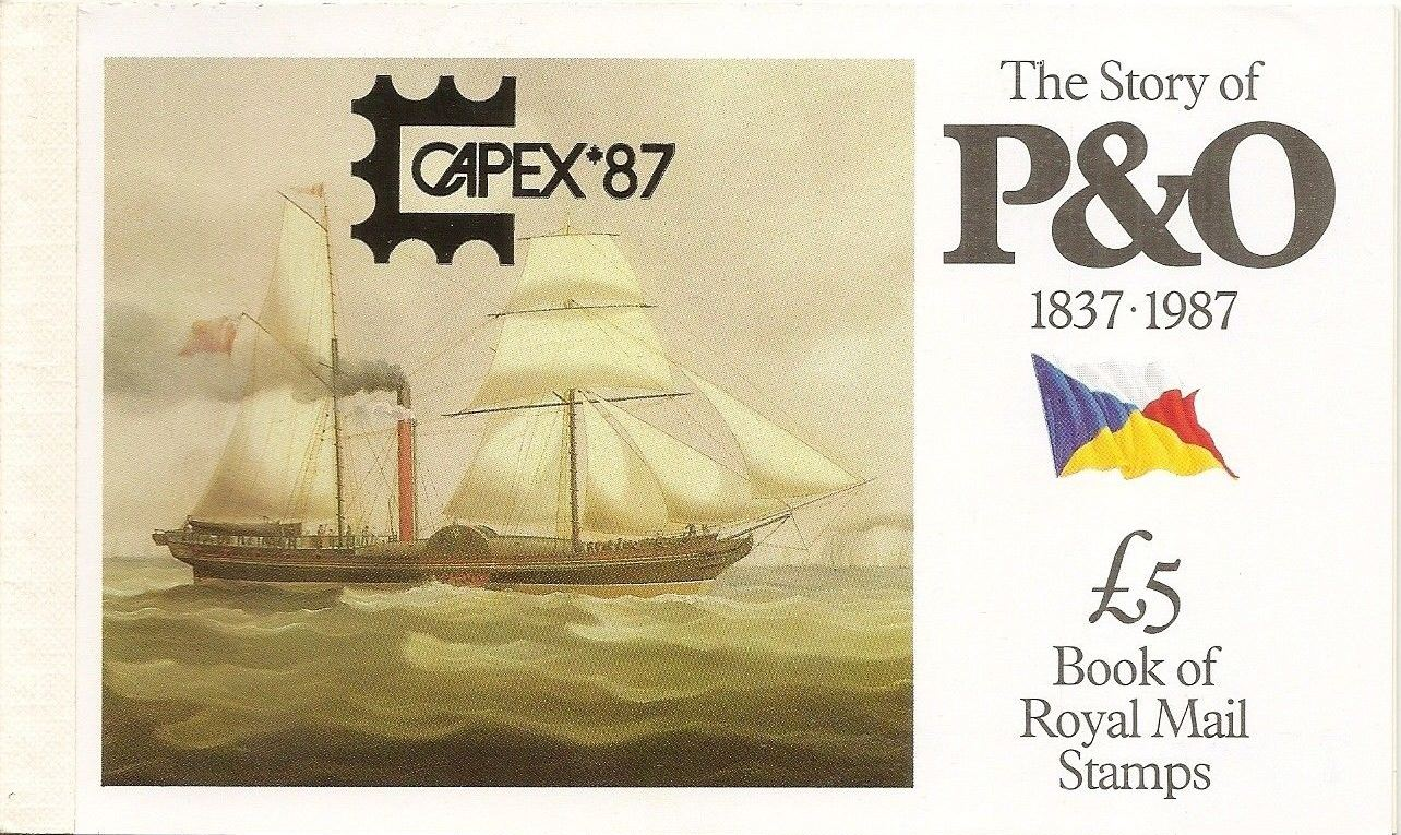 1987 GB - DX8a - The Story of P&O (1837-1987) CAPEX Overprint