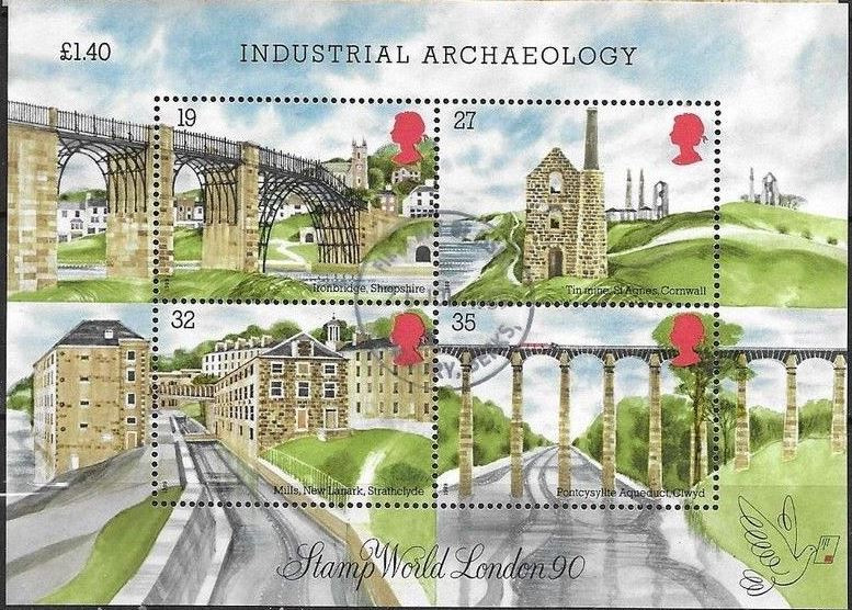 1989 GB - MS1444 - Industrial Archaeology CDS VFU