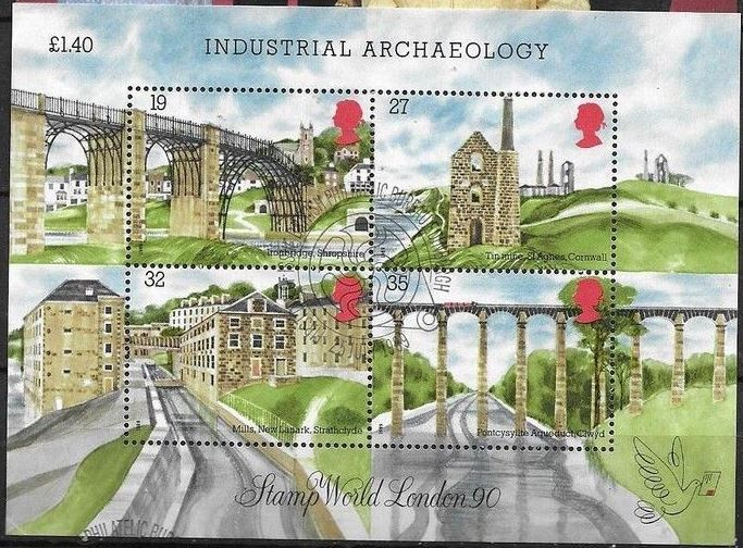 1989 GB - MS1444 - Industrial Archaeology FDC VFU
